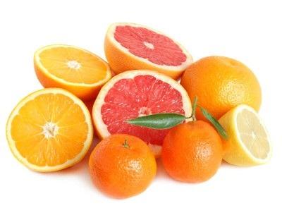 Naranja, mandarina y pomelo