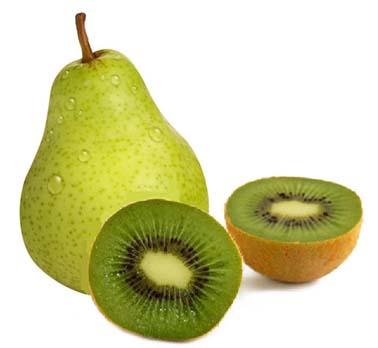 Pera y kiwi